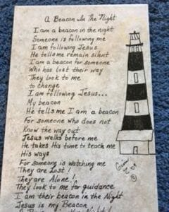 A Beacon in the Night poem