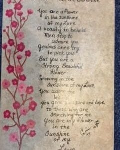 A Flower In The Sunshine poem