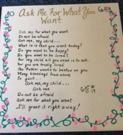 Ask Me For What You Want poem