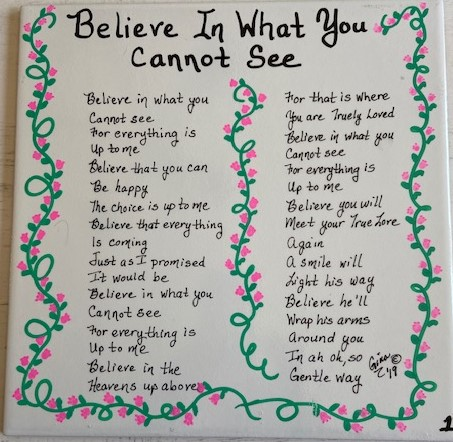 Believe In What You Cannot See 1