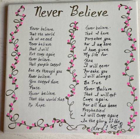 Never Believe