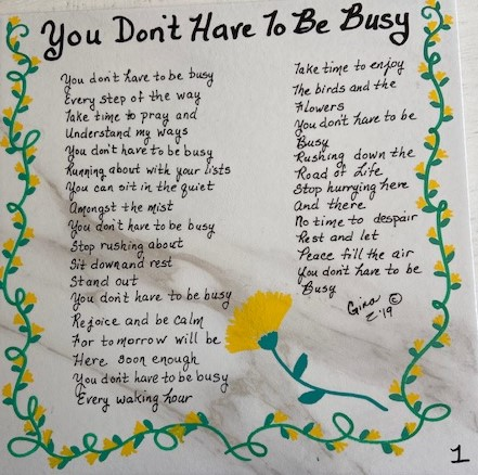 You Don't Have To Be Busy 1
